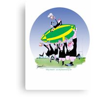 New Zealand Rugby - 3 cheers!, tony fernandes Canvas Print