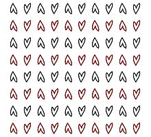 seamless pattern black and red heart Photographic Print