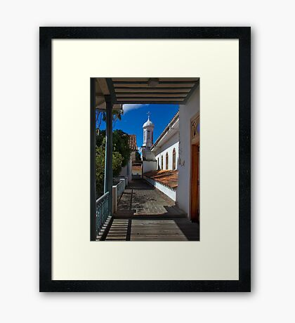 Upper View From the Medical Museum In Cuenca Framed Print