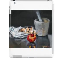Mortar and pestle bag of almonds and pomegranate  iPad Case/Skin