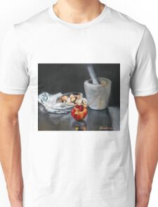Mortar and pestle bag of almonds and pomegranate  Unisex T-Shirt