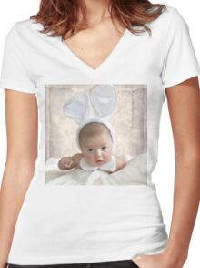 Easter Baby Women's Fitted V-Neck T-Shirt