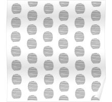 seamless pattern of embroidered points circles in Doodle Poster