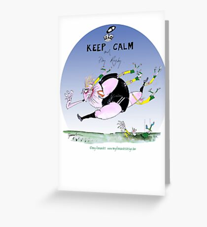 New Zealand Rugger, tony fernandes Greeting Card