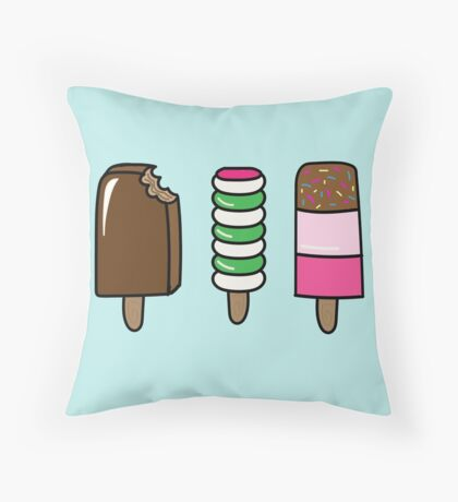 Ice Lollies Throw Pillow