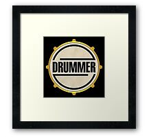 Drummer Gold Ring Framed Print