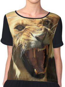 Angry Lioness Chiffon Top