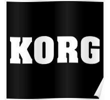 Korg White Poster
