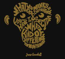 Jane Goodall monkey One Piece - Short Sleeve
