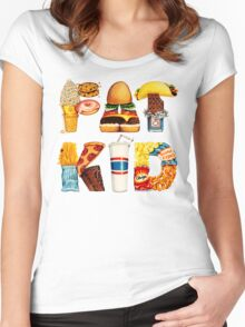 FAT KID Women's Fitted Scoop T-Shirt