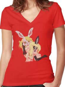 Twins. Women's Fitted V-Neck T-Shirt
