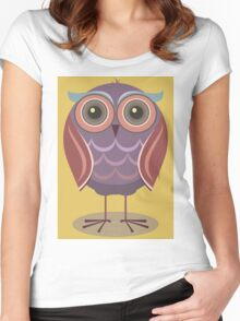 LITTLE HOOT Women's Fitted Scoop T-Shirt