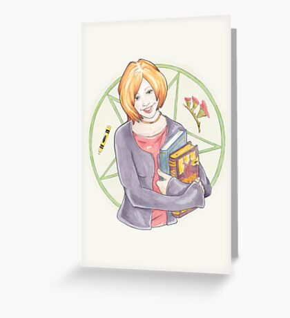 Watercolour Fanart Illustration of Willow Rosenberg from Joss Whedon's Buffy The Vampire Slayer Greeting Card