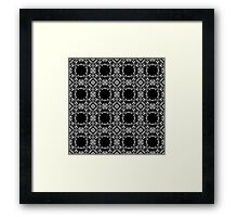 Openwork seamless pattern. Ornament black and white.  Framed Print