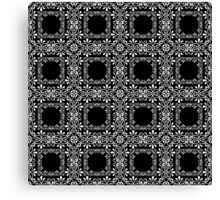 Openwork seamless pattern. Ornament black and white.  Canvas Print