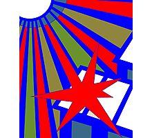 Sol Burst (Red Blue) Photographic Print
