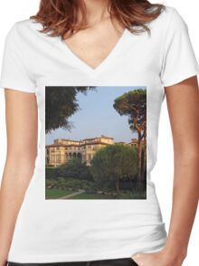 The Painted Pfaner Garden Women's Fitted V-Neck T-Shirt