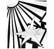 Sol Burst (Black White) Poster