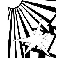 Sol Burst (Black White) Photographic Print