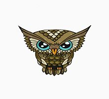 Owl Minimalism Brown Unisex T-Shirt