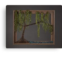 Spring Willow Tree - Dark Canvas Print