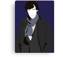 Sherlock Illustration portrait Canvas Print