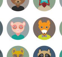 Set of animal faces Sticker