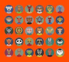 Set of animal faces Kids Tee