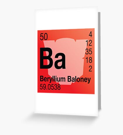 Transformers Periodic - Beryllium Greeting Card