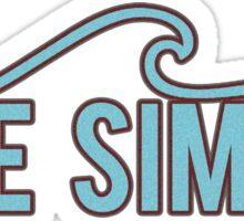 Live Simply (blue wave) Sticker