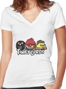 Timey Lords Women's Fitted V-Neck T-Shirt