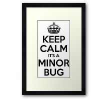 Keep Calm it's a Minor Bug Framed Print