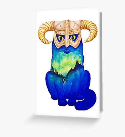 Dovahkitteh Greeting Card