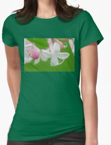 Lilac Blossom Macro Womens Fitted T-Shirt
