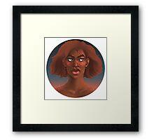 Starry Eyed - Circle Framed Print