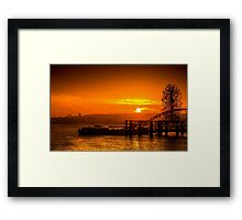 Every day starts with optimism @londonlights Framed Print