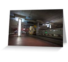 Antwerp Central Station Underground Greeting Card
