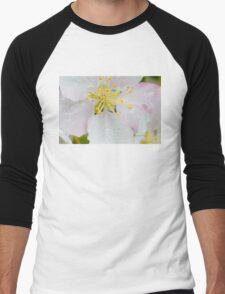 Apple Blossom Macro Men's Baseball ¾ T-Shirt