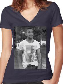 Ryan Gosling Macaulay Culkin Shirt Women's Fitted V-Neck T-Shirt
