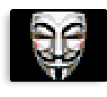 8 bit vendetta Canvas Print