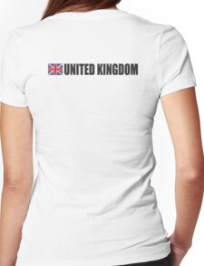 United Kingdom, UK, GREAT BRITAIN, GB, Union Jack, British Flag, ON WHITE Womens Fitted T-Shirt