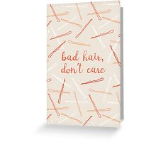 messy hair day Greeting Card