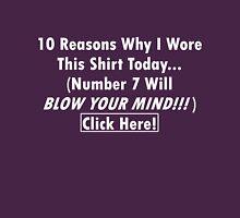 Viral Shirt - Click Here! light text Womens Fitted T-Shirt