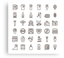 Craft Beer Icons Canvas Print