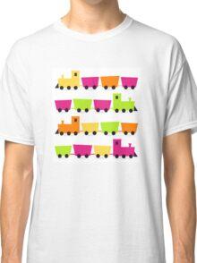 Cute colorful vehicles set Cartoon Classic T-Shirt