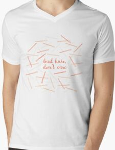 messy hair day Mens V-Neck T-Shirt