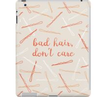 messy hair day iPad Case/Skin