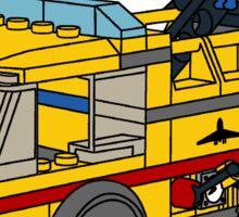 The Lego Airport Fire Truck 7891 Sticker