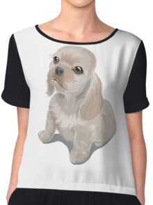 Cute little puppy Chiffon Top