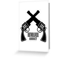 Gun Revolver Greeting Card